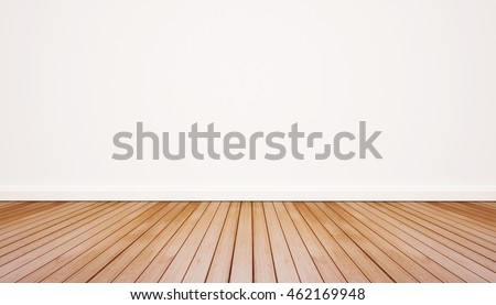 Wood floor with white wall #462169948
