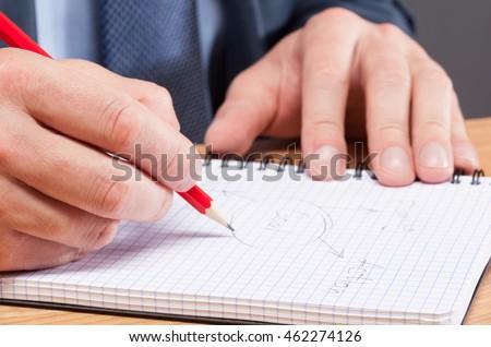 Businessman making notes - closeup shot #462274126