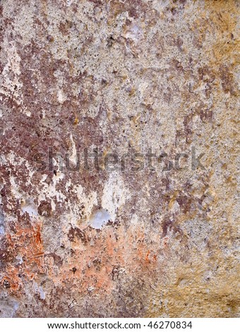 Grunge wall with peeling paint #46270834