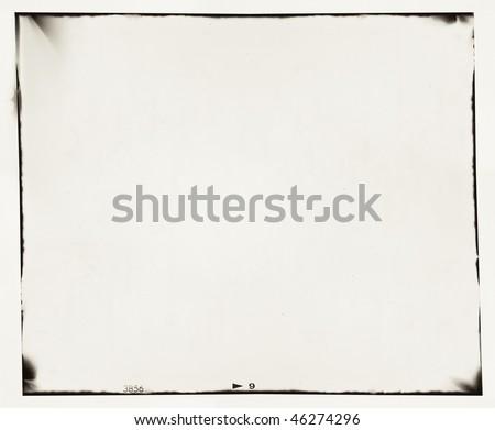 medium format film frame with grain and light leaks