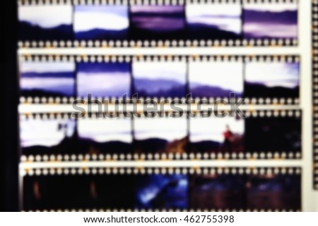 Blurred of film contact print used for background #462755398
