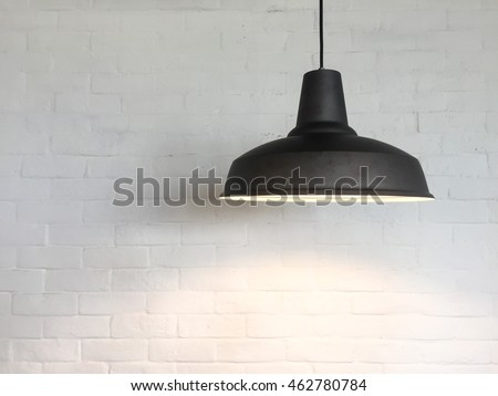 The Ceiling Fixture on brick wall background. #462780784