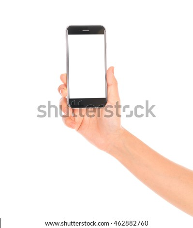 Business hand with mobile phone #462882760