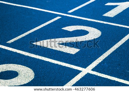 Numbers on running track #463277606
