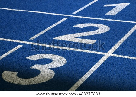Numbers on running track #463277633