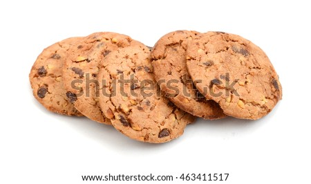 chip cookies isolated on white  #463411517