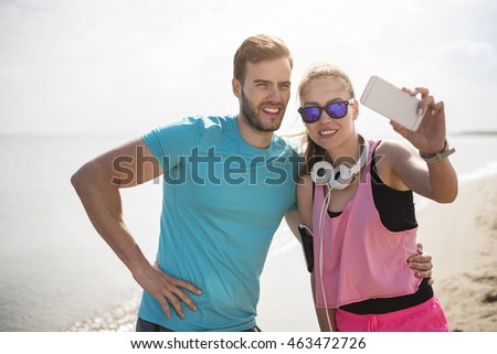Common selfie on the beach #463472726