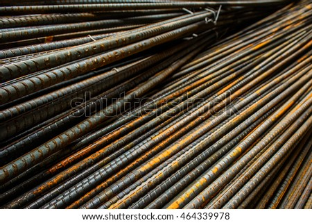 Iron rebar starting to rust #464339978