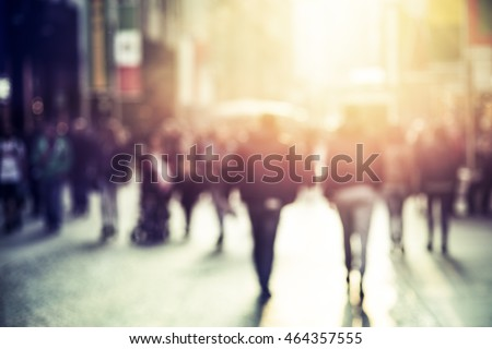 people walking in the street, abstract,  blurry Royalty-Free Stock Photo #464357555