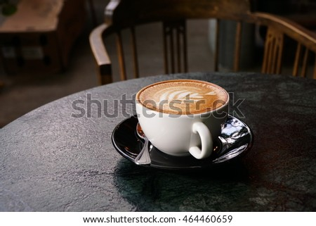 Cup of latte #464460659