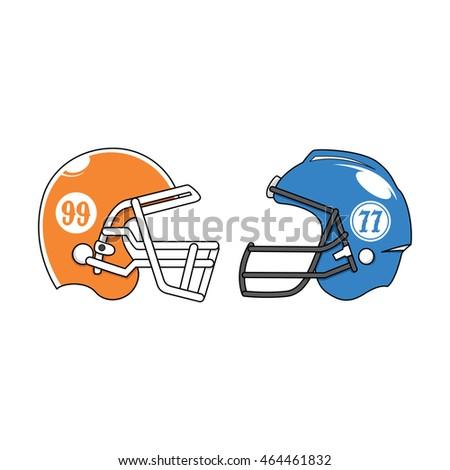 American Football Helmet Versus Vector Icon #464461832