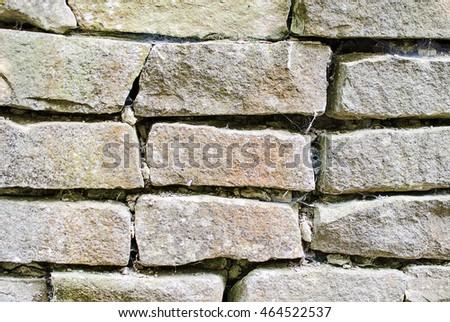 Texture of old stone wall  #464522537