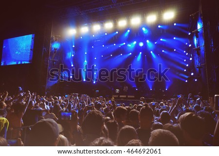 Crowd at a open air concert #464692061