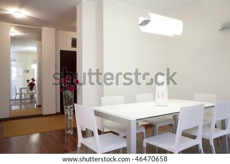 interior of a dining room #46470658