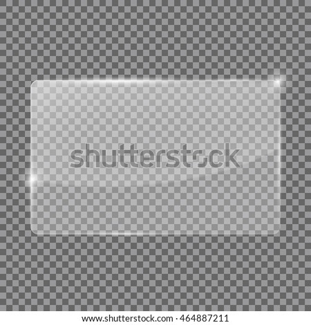 Transparent glass plate. Vector illustration isolated #464887211