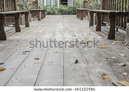 Wood chair in autumn park #465102986