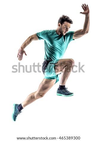 man runner jogger running  isolated #465389300
