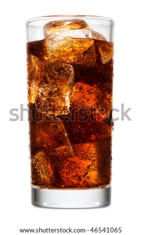 Glass of cola with ice #46541065