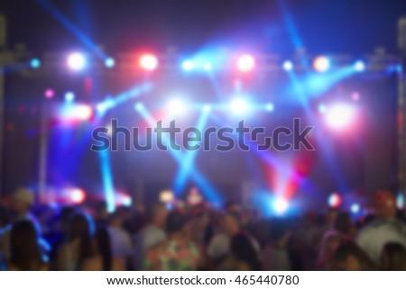 Defocused View Of Audience At Music Festival #465440780