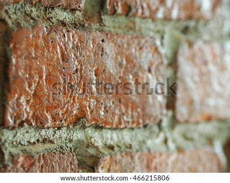 Focus on some part of red block brick background #466215806