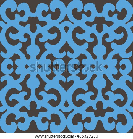 Abstract ornamental pattern seamless background tile #466329230