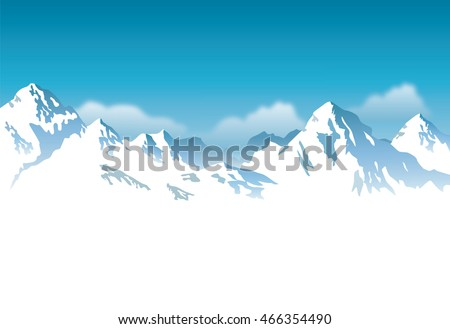 snow-capped mountains - background  #466354490