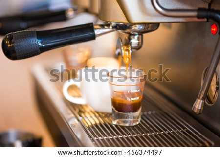Making Coffee Preparation Service Machina Concept vinatage #466374497