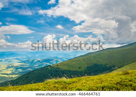 view from the mountains with clouds #466464761
