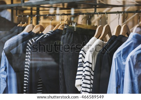 Women clothing store in Milan, Italy Royalty-Free Stock Photo #466589549