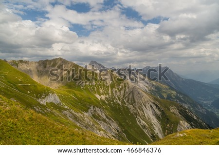 Beautiful mountain landscape in the Lechtal Alps, North Tyrol, Austria #466846376
