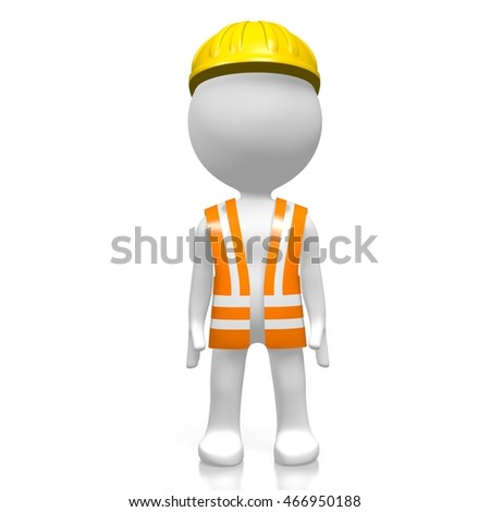 3D illustration/ 3D rendering - worker.