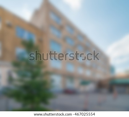 Office building exterior theme creative abstract blur background with bokeh effect #467025554