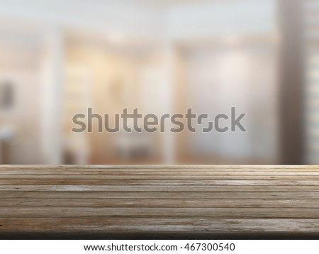 closeup top wood table with Blur Background #467300540