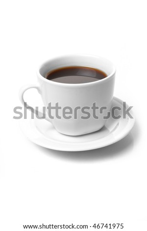 Perfect white coffee cup   on white #46741975
