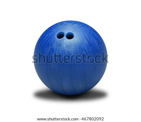 Blue bowling ball isolated on white background. #467802092