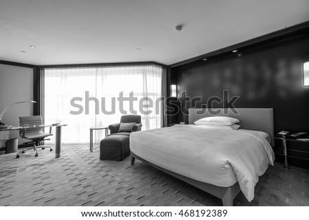 Hotel room or bedroom Interior. hotel concept. #468192389