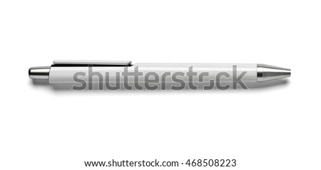 close up of white pen on white background #468508223