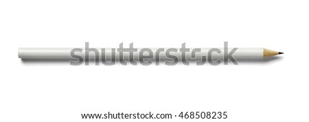 close up of a pencil on white background Royalty-Free Stock Photo #468508235