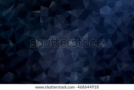 Dark blue blurry triangle pattern. Glitter abstract illustration with an elegant design. The completely new template can be used for your brand book.