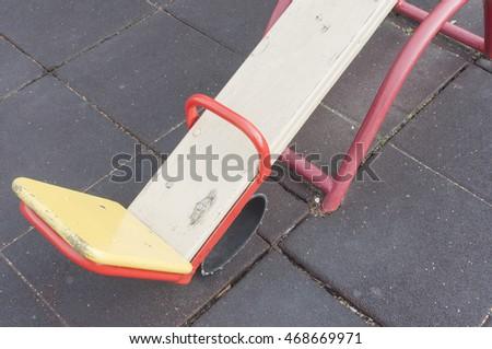 Swing on the playground #468669971