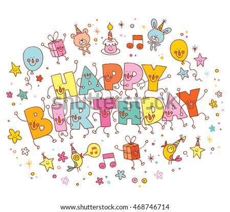 Happy birthday greeting card #468746714