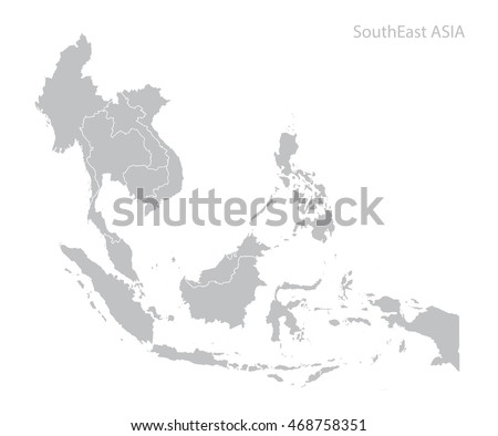 Map of Southeast Asia Royalty-Free Stock Photo #468758351