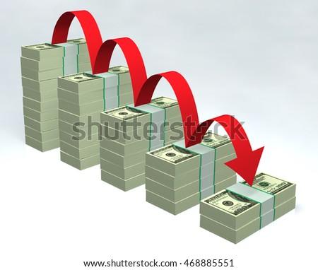 Dollar bills 3D  #468885551