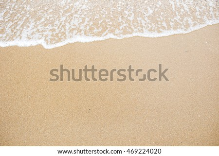 Small wave at the beach background. #469224020