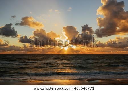 Sunset. Beautiful sunset  baltic sea. Gold sea sunset. Picture Sea sunset. Sea sunset background. Amazing sea sunset Sunset sea picture. Sunset sea waves. Summer sunset.