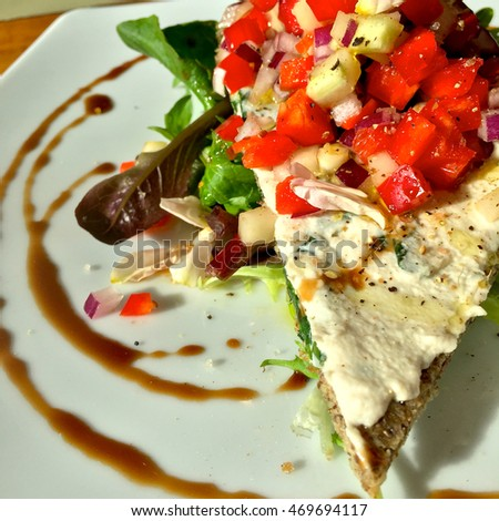 Divine Delicious Vegan Lunch (Abstract Artistic View) #469694117