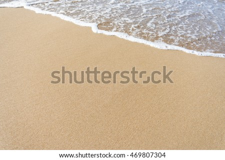 Wave on the sand beach background #469807304