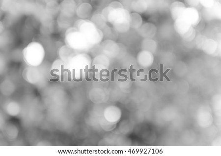 Gray black white bokeh out of focus background from nature forest #469927106