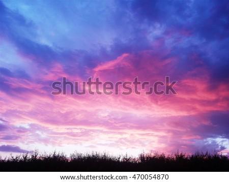 Purple sky sunset #470054870