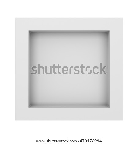 simple square frame or shelf. 3D rendering #470176994